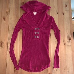 Mossimo pink thermal hoodie sweater
